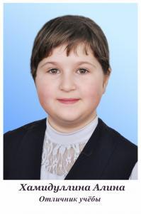 Хамидуллина Алина